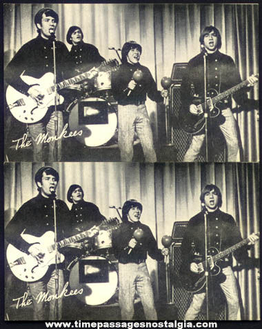 (2) Old Monkees Music Arcade Exhibit Trading Cards
