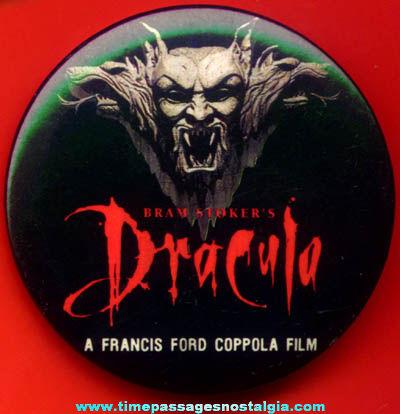 ©1992 Bram Stoker's Dracula Movie Promotional Advertising Pin Back Button