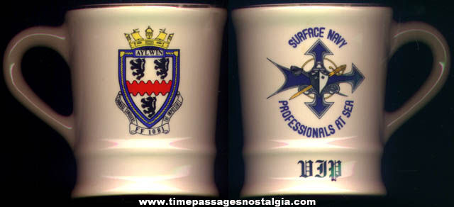 U.S.S. Aylwin FF-1081 United States Navy Ship Advertising Ceramic Mug