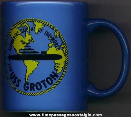 U.S.S. Groton SSN 694 United States Navy Submarine Advertising Coffee Mug
