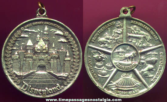 Old Disneyland Medal Or Key Chain Fob