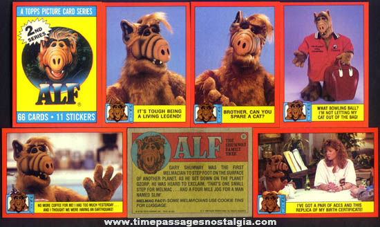 (66) ©1988 Alf Character Bubble Gum Trading Cards