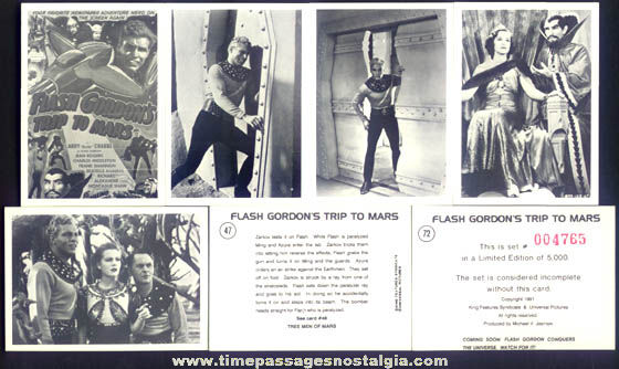 (36) Limited Edition Flash Gordon Trip To Mars Trading Cards