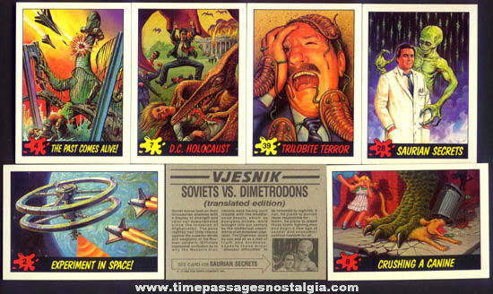 (30) Old Dinosaur & Space Bubble Gum Trading Cards