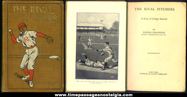 ©1910 The Rival Pitchers Hard Back Baseball Book