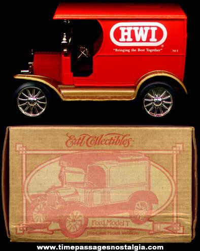 Boxed ©1995 Ertl Ford Model T HWI Advertising Truck Bank