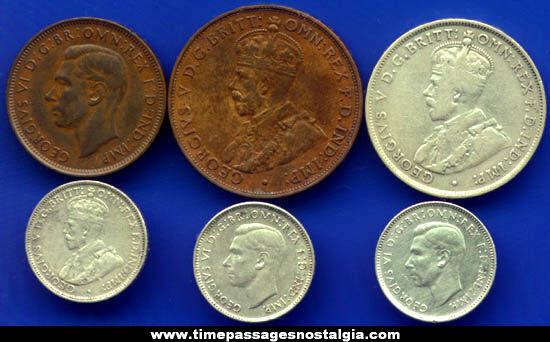 Old Australian Coins 6 Old Australian Coins