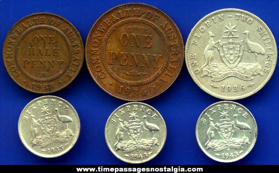 Old Australian Coins Old Australian Coins