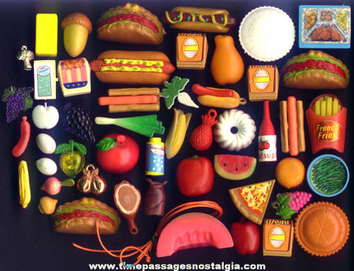 (50) Miniature, Doll House, Pin, Magnet, & Charm Food Items