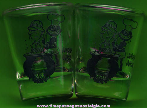 (2) Old Cannibal Scene Jungle Juice Shot Glasses