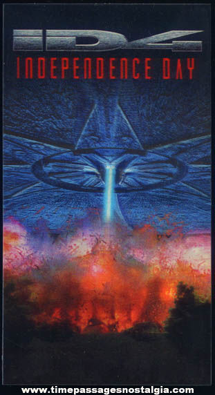 �1996 Independence Day Movie Flicker 3-D Advertising Card
