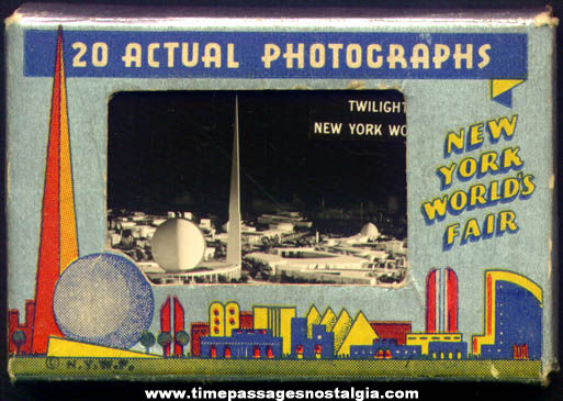 (20) Boxed 1939 - 1940 New York World's Fair Souvenir Photographs