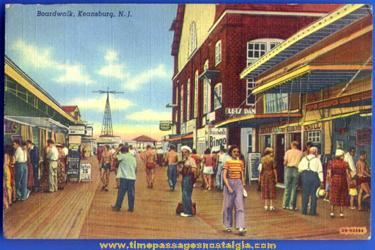 Colorful Old Keansburg New Jersey Boardwalk Post Card