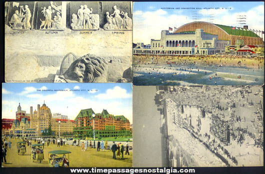 (4) Different Old Atlantic City New Jersey Post Cards