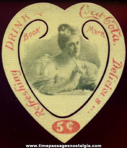 Rare 1899 Die Cut Celluloid Coca Cola Advertising Premium Book Mark