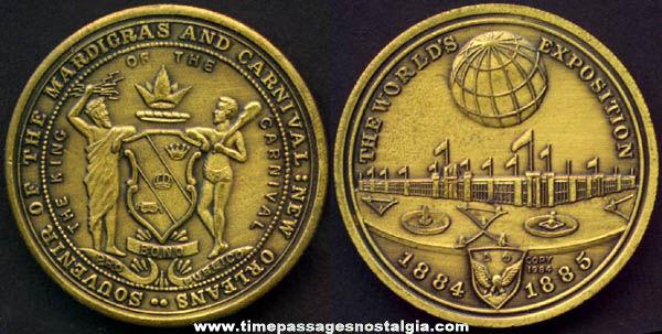 Old New Orleans Louisiana World Exposition & Mardigras Medallion Coin