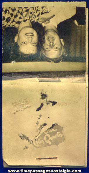 Old Unused Lou Walters Latin Quarter Advertising Souvenir Photograph Match Book