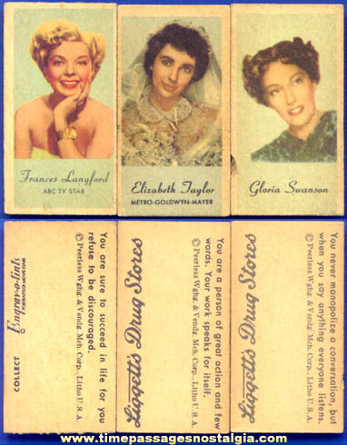 (3) Old Weight Scale or Vending Machine Actress Fortune Cards