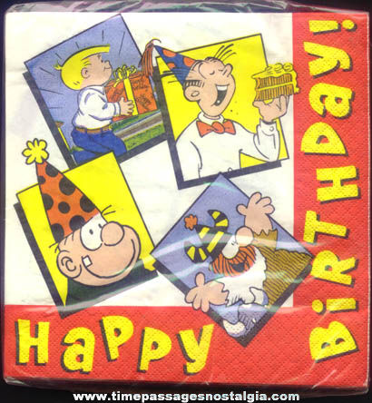 (72) Unopened ©1994 King Features Syndicate Comic Strip Character Birthday Party Napkins
