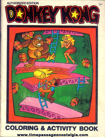 ©1982 Donkey Kong Video Game Coloring & Activity Book - TPNC