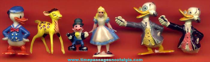 (6) Old Walt Disney Character Disneykin Figures