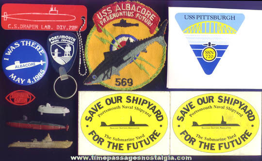 (11) United States Navy Submarine Related Items
