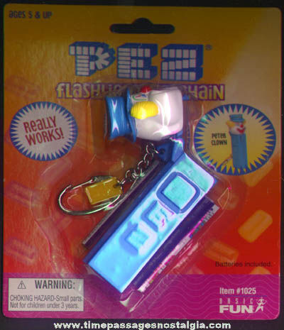 Unopened Peter Clown Character PEZ Advertising Candy Dispenser Flashlight Keychain