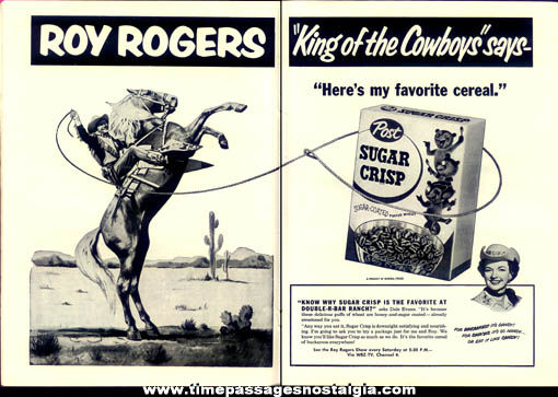 1955 Boston Garden Rodeo Program Book With Roy Rogers & More