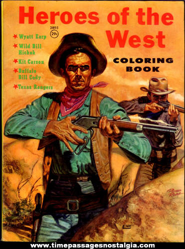 ©1959 Heroes of the West Character Coloring Book