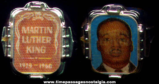 Old Martin Luther King Flicker Gum Ball Machine Premium Toy Ring