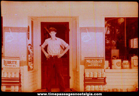 (2) 1939 Gas Station Attendant Photograph Negatives