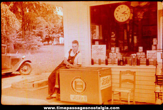 (2) 1939 Gas Station Attendant Photograph Negatives