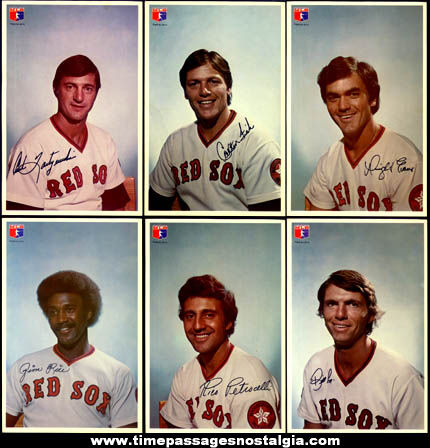 (11) ©1976 Boston Red Sox MLB Baseball Player Pictures