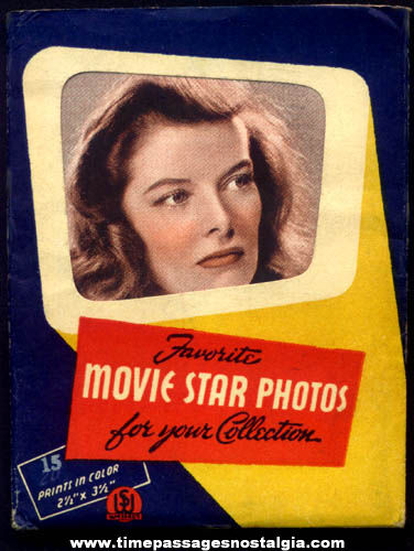 Old Envelope With (4) Television & Movie Star Actress Color Prints