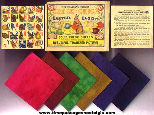 Old Unused Paper Chick Chick Easter Egg Dye Kit