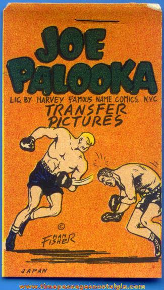Old Unused Joe Palooka Comic Strip Character Transfer Pictures Booklet