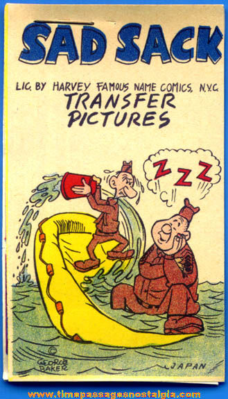 Old Unused Sad Sack Comic Strip Character Transfer Pictures Booklet