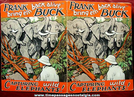 1934 Frank Buck Bring 'em Back Alive Book