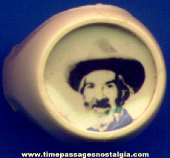 Old Gabby Hayes Western Cowboy Real Photo Toy Ring