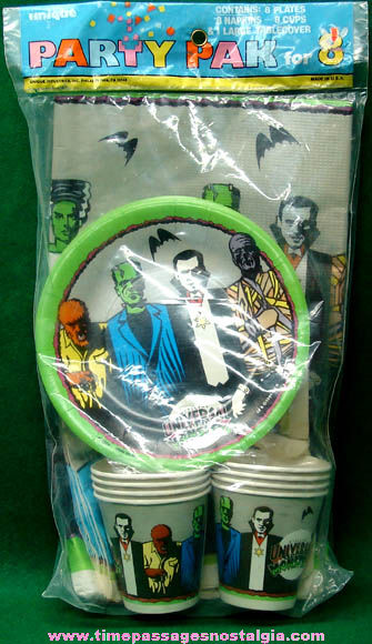 Unopened ©1991 Universal Monsters Party Pack for Eight
