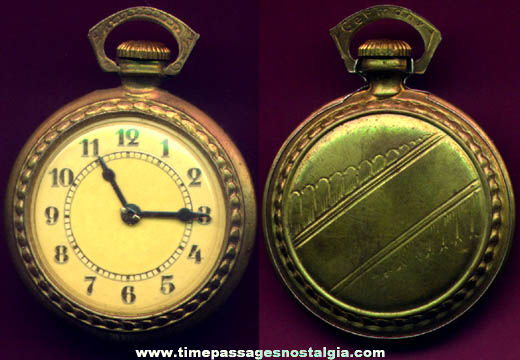 Nicely Made Old Brass German Toy Pocket Watch
