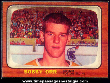 1966 - 1967 Bobby Orr Boston Bruins Hockey Sports Rookie Card