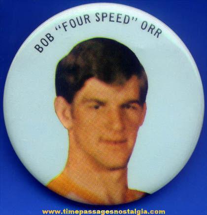 1970s Bobby Orr Boston Bruins Hockey Pin Back Button