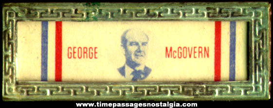 Old George McGovern U.S. Presidential Political Campaign Bar Pin