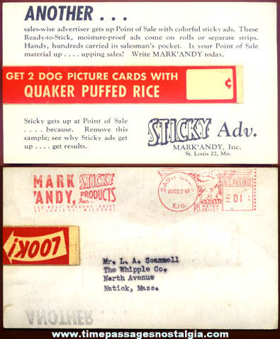 Unique 1949 Sergeant Preston of the Yukon Premium Dog Card Advertising Post Card
