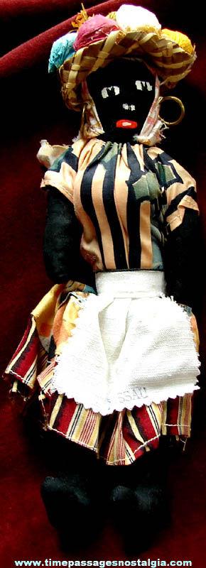 Old Nassau Bahamas Dressed Souvenir Black Cloth Toy Doll