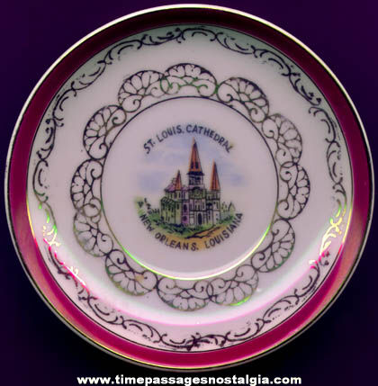 Old Miniature New Orleans Louisiana Advertising Souvenir China Plate