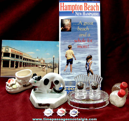 (9) Old Hampton Beach New Hampshire Advertising Souvenir Items