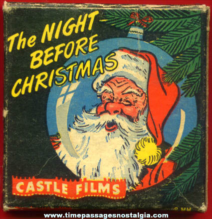 Old Boxed Night Before Christmas Castle 8mm Film