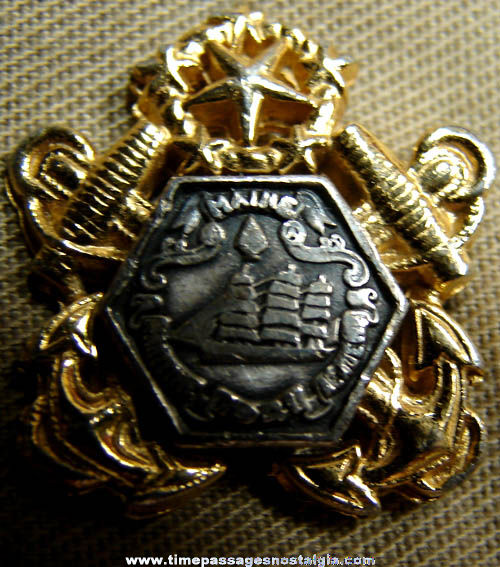 Old Maine Maritime Academy Officer Hat With Insignia
